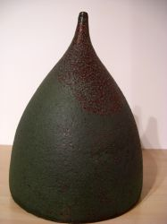 ceramic bottle, chamotte clay