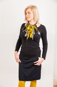 Felted nacklace, collar